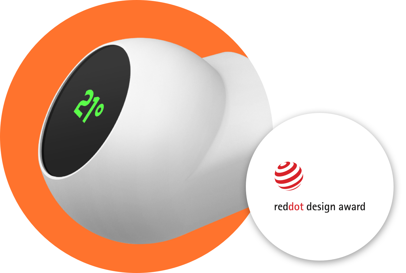 eCozy thermostat is Red Dot Design awarded